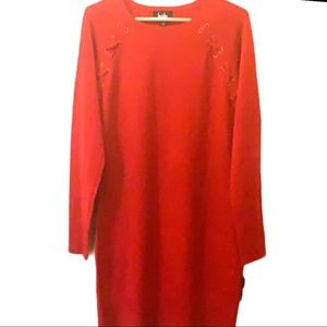 NWT Downtime Red sweater Dress by: BY&BY size Lg.
